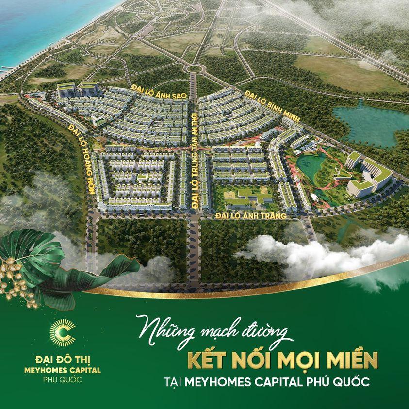 Vị trí đắc địa của biệt thự Meyhomes Capital Phú Quốc