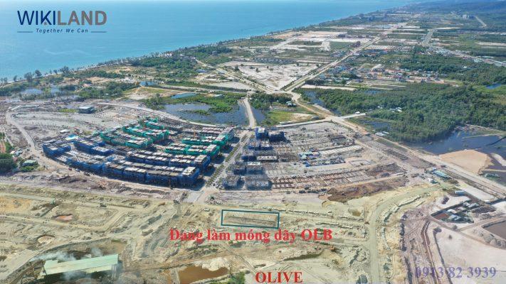 Tiến độ khu Olive đã hoàn thiện hạ tầng, đang làm móng dãy OLB
